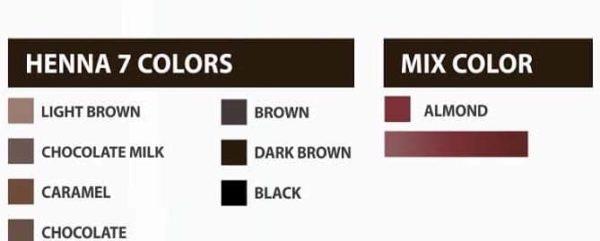 χρωματισμοί χέννας φρυδιών